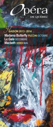 Brochure d'abonnement saison 2013-2014, (tableau d'Alexandre De Grandpré)