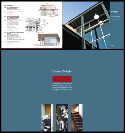 Brochure corporative, Pierre Deliste architecte