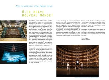 """Page du programme """"The Tempest"""" présenté au Festival d'Opéra 2012"""