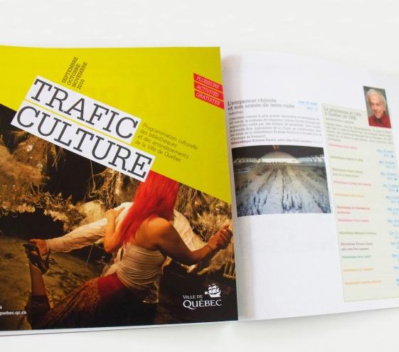 Montage de la brochure d'activités Trafic Culture
