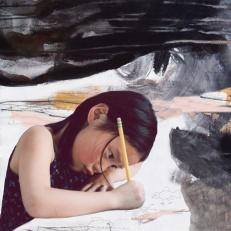 Mathilde dessine
