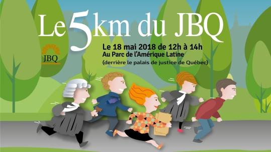 Course 5km du Jeune Barreau de Québec, ouvert à tous les intervenants du système de Justice.